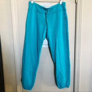 Calvin Klein blue tie front athletic leggings med